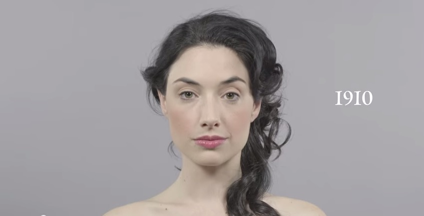 100 year of hair styles in one minute